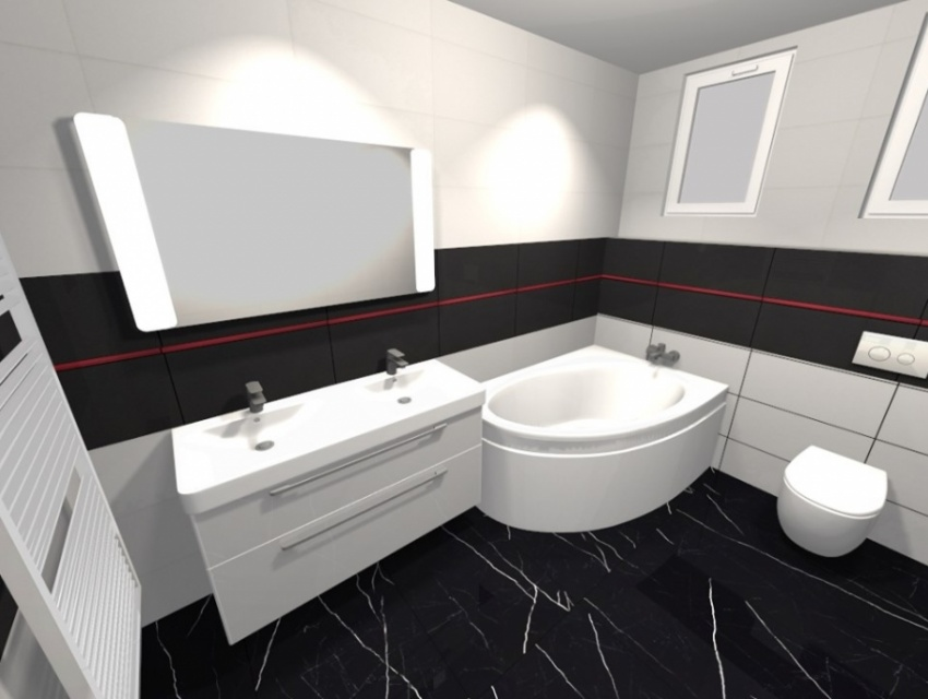 Vizualizácia kúpeľne Zvolen