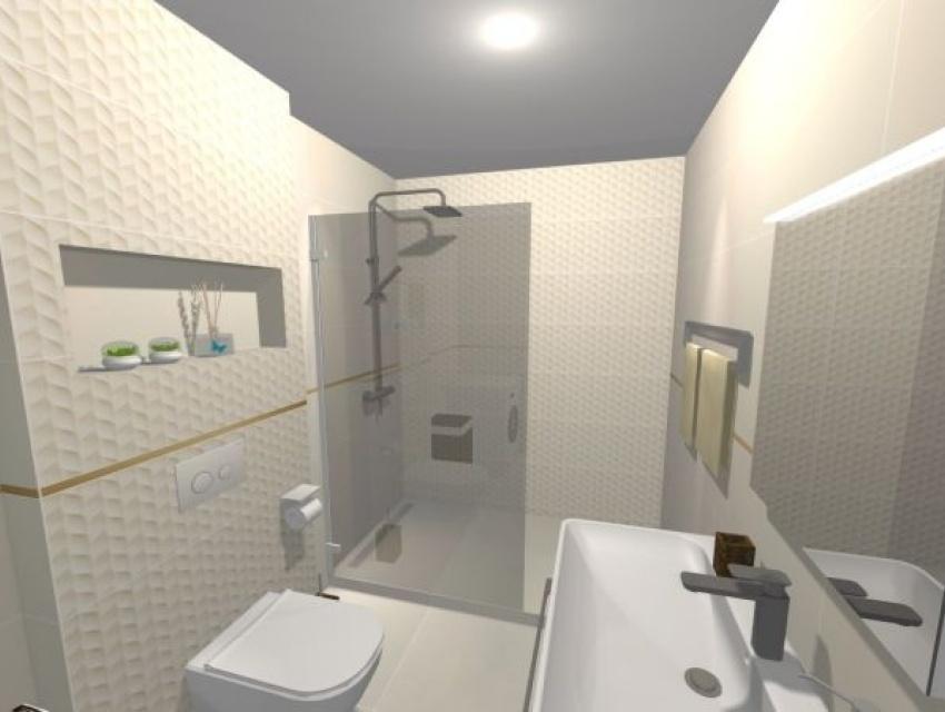 Vizualizácia kúpeľne Banská Bystrica